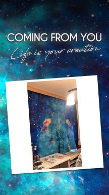 Cloud Atlas Space One Piece Curtain