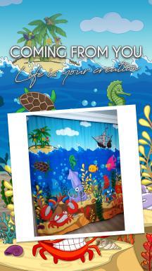 Cipcici Theatre Underwater Orchestra 2 Panel Curtain