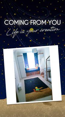 Cipcici Theater Little Prince Night Printed Carpet