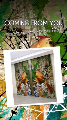 Bird Patterned Curtain 1 Piece
