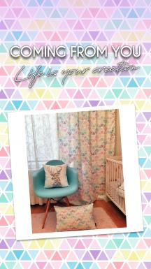 Colorful Triangles Single Piece Curtain