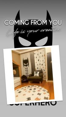 Colorful Bat Masks Curtain By İmren Gürsoy