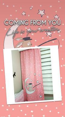 Bunny and The Moon Curtain BlackOut Curtain