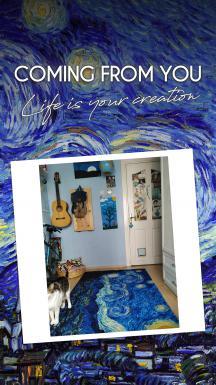 Vincent Van Gogh - Starry Night Printed Carpet