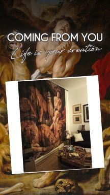 Sir Peter Paul Rubens Daniel in the Lions' Den 2 Pieces Panel Curtain