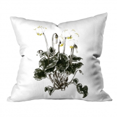 Botanic Yellow-Green Flower Flower Cushion