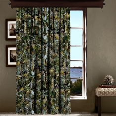 Botanic and Tropical Leaves Curtain