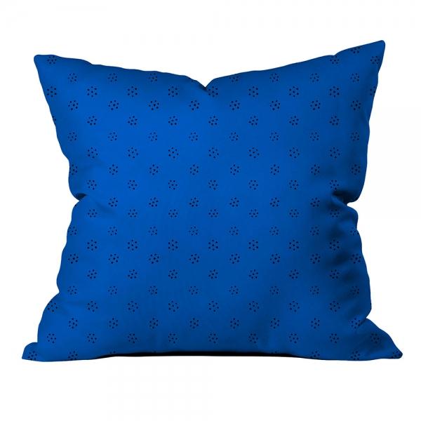 Siyah Puantiyeli Mavi Kırlent
