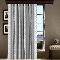 Small Anchor Patterned Tulle Curtain