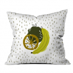 Apple and Banana Theme Cushion