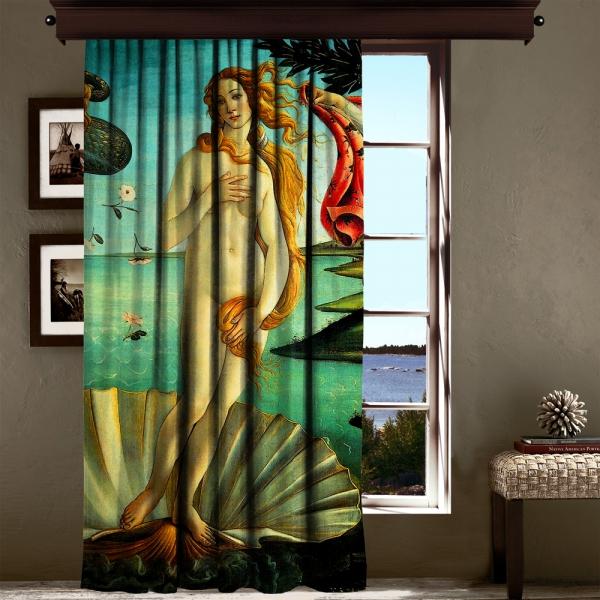 Sandro Botticelli - Venüs'ün Doğuşu Panel 2 Blackout Perde - 260 CM