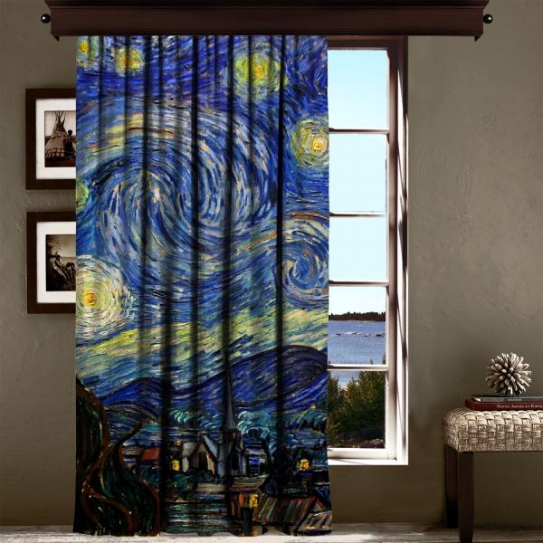 Vincent Van Gogh - Yıldızlı Gece Panel 2 240 CM