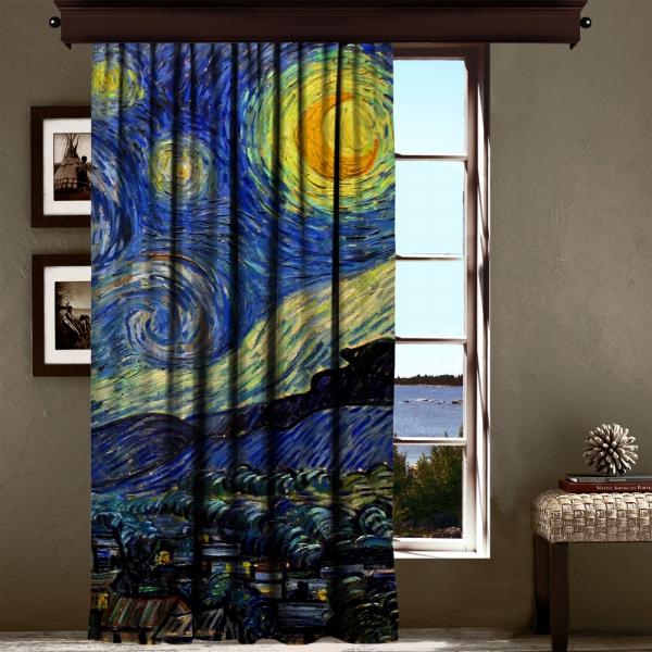 Vincent Van Gogh - Yıldızlı Gece Panel 3 200 CM