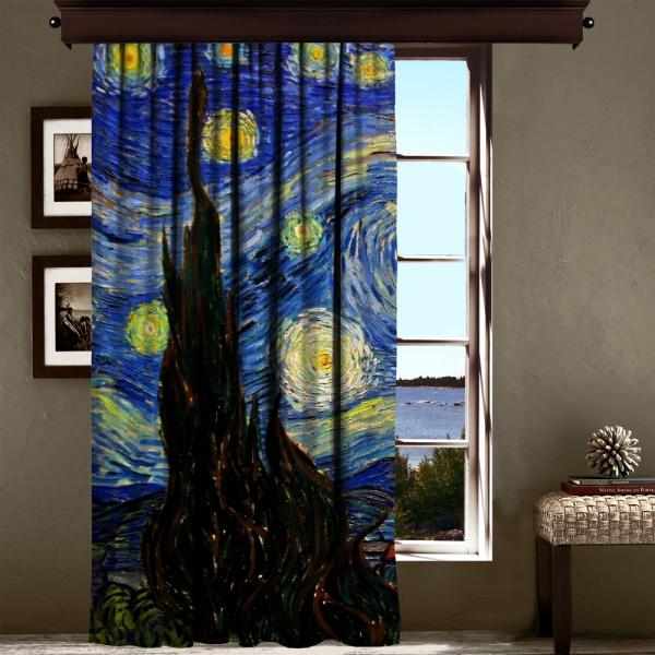 Vincent Van Gogh - Yıldızlı Gece Panel 1 200 CM