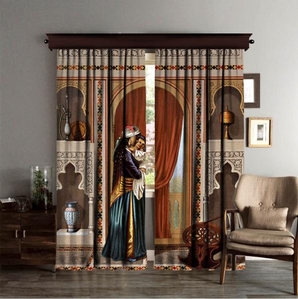 Sidi Yusuf Adami'nin Evi Bakıcı Odası 2 Kanat Perde Seti