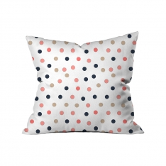 Colourful Dotted White Background Cushion