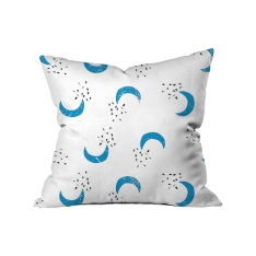 Blue Half Moon Cushion