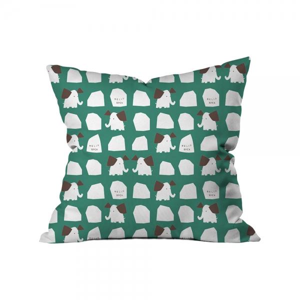 ''Hello Rock'' Elephants Kids Cushion