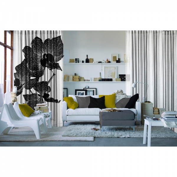 Orkide Siyah&Beyaz Tül