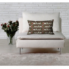 Brownish New Year Theme Cushion