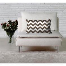 Brownish Zigzag Cushion