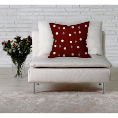 Snow Flakes And Pines Cushion