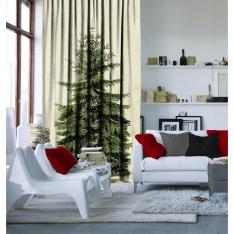 Green Pine Tree Curtain