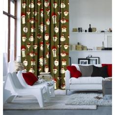 Illusration Santa Claus Curtain