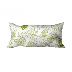 Drawing Leaves Green Cushion