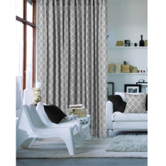 Charming Grey Single Piece Curtain