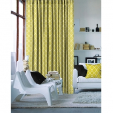 Charming Yellow Single Piece Curtain