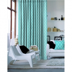 Charming Turquoise Single Piece Curtain