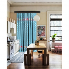 Cupcake Pattern Single Piece Curtain