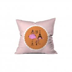 ''Fashion Here Paris'' Pillow Sev.G
