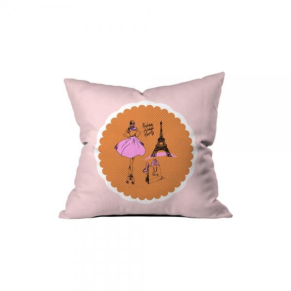 ''Fashion Here Paris'' Pillow Sev.G
