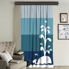 Sweet Whale Single Piece Curtain