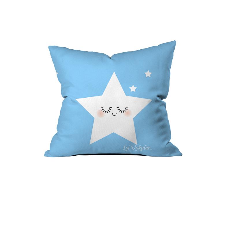 Sevimli Yıldız, İyi Uykular Kırlent ( Mavi)-2.jpg