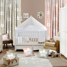 Sweet Sleeping Stars 2 Piece Curtains