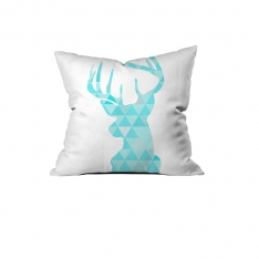 Triangle Pattern Deer Cushion