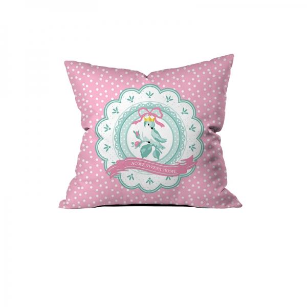 """Home Sweet Home"" Birdy Cushion"