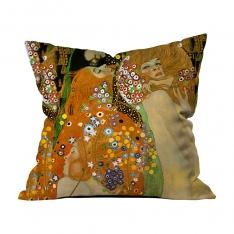Gustav Klimt - Su Yılanları 2 Kırlent