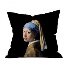 Johannes Vermeer - İnci Küpeli Kız Kırlent