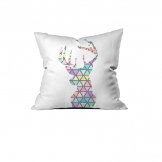 Pastel Colored Deer Cushion