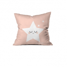 Cute Sleeping Stars Pink Pillow