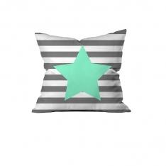 Yeşil Yıldızlı Kırlent