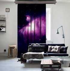 Star Gate Space One Piece Curtain
