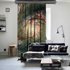 Arms of Spiral Galaxy One Piece Curtain