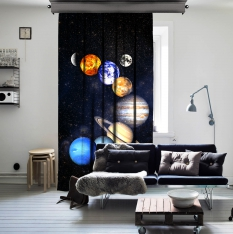 Solar System Space One Piece Curtain