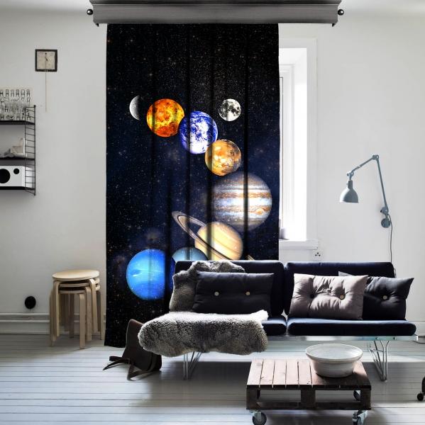 Güneş Sistemi Uzay Tek Kanat Perde