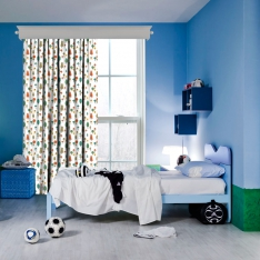 Colourful Trees Kids Curtain
